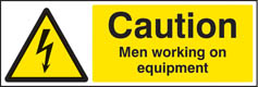 Caution men working on equipment Sign (4025)