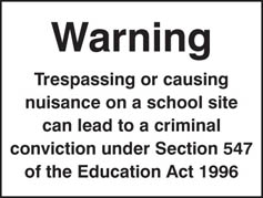 Warning Trespassers Convicted Sign