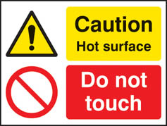 Caution hot surface do not touch Sign (4237)