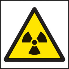 Radiation symbol sign
