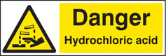 Hydrochloric acid sign