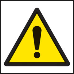Danger symbol sign