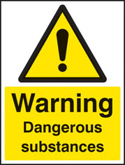 Dangerous substances sign