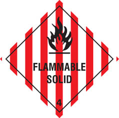 Hazard label Flammable solid