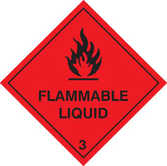 Hazard Label Flammable Liquid