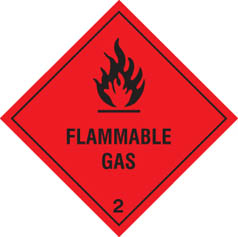 Hazard Label Flammable gas