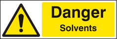 Danger solvents sign