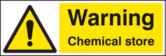 Warning chemical store Sign (4451)