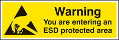 Warning you are entering an ESD protected area sign