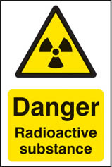 Danger radioactive substance Sign