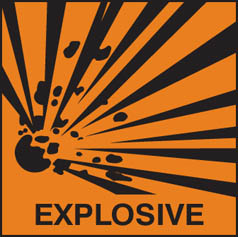 Hazard Label explosive
