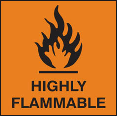 Hazard Label Highly flammable (orange)