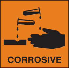 Hazard Label Corrosive (orange)