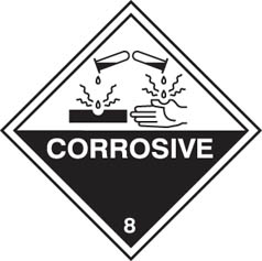 Hazard Label Corrosive