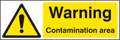 Warning contamination area sign