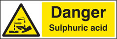 Danger sulphuric acid sign
