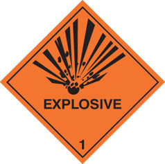 Hazard label Explosive diamond