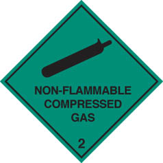 Hazard Label non-flammable compressed gas 2
