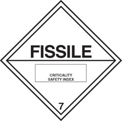 Hazard label Fissile diamond