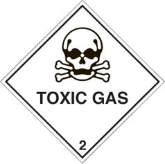 Hazard label Toxic gas diamond