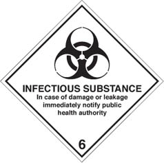 Hazard label Infectious substance diamond