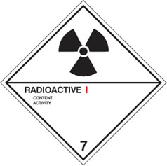 Hazard label Radioactive I diamond