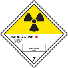 Hazard label Radioactive III diamond