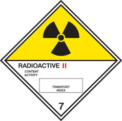 Hazard label Radioactive II diamond