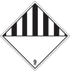 Hazard label Black / white diamond