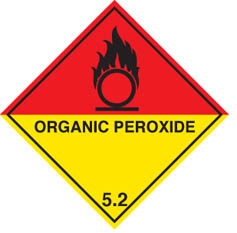 Hazard label Organic peroxide diamond