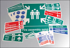 Fire safety signs kit rigid value pack