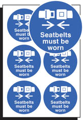 Seatbelts must be worn sticker