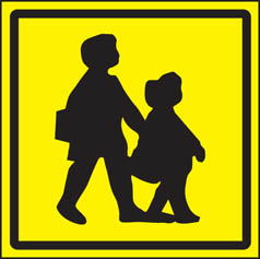 Children Crossing Vehicle Sign