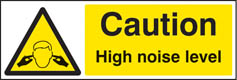 Caution high noise level sign