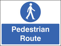 Pedestrian route Sign (5235)
