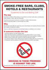 Smoke-free bars clubs & hotels poster