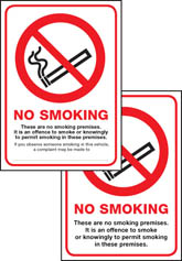 Scotland no smoking premise double sided