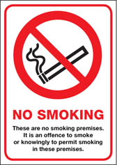 Scotland No Smoking Premises A4 rigid plastic