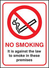 No Smoking it is against the law Sign