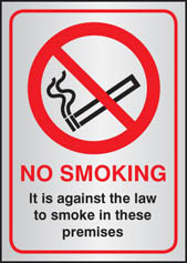 Prestige No Smoking Signs