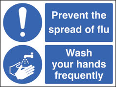 Prevent the Spread of Flu (Hands) Signs
