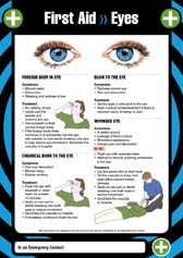 First aid eyes poster