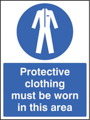 Protective clothing must be worn in area sign