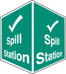 Spill station projecting sign