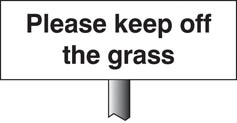 Please Keep Off The Grass Verge Sign