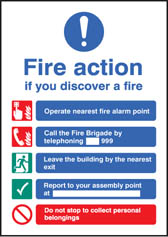 Fire Action Sign (A5)
