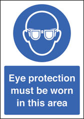 Eye protection must be worn sign (A4)