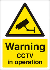 Warning CCTV in operation sign (A4)