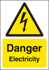 Danger electricity sign (A4)