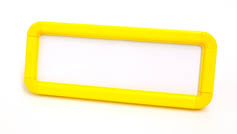 Yellow Suspended Frame with Hooks & Fixing Pads